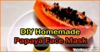 DIY Homemade Papaya Face Mask Recipe
