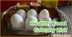 Healthy Food Grocery List on a Budget for Family